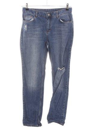 Set High Waist Jeans blau Casual-Look