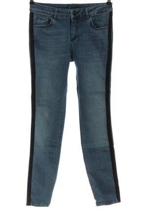 Set High Waist Jeans blau-schwarz Casual-Look