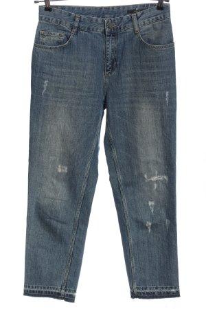 Set Jeansy z wysokim stanem niebieski W stylu casual