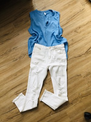 Set High waist Jeans und Bluse