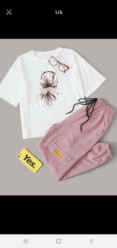 Cargo Pants white-dusky pink