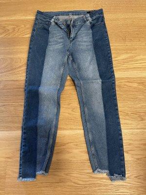 Set Jeansy 7/8 stalowy niebieski