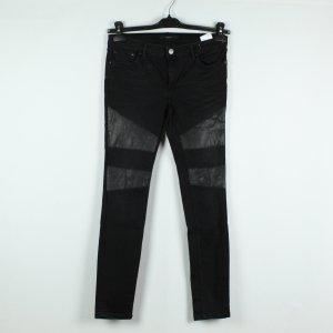SET Jeans Gr. 36 schwarz Leder (19/11/496*)