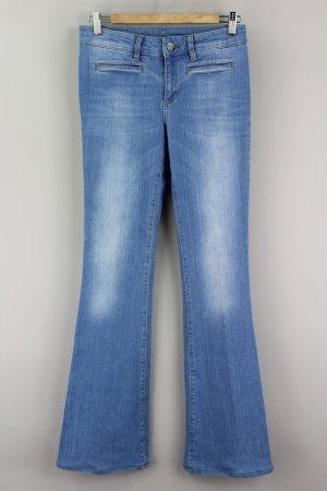 SET Jeans Retro Schlaghose blau Größe 36 1708520050497