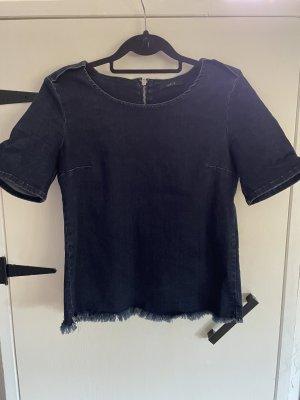 SET Urban Deluxe Blouse en jean bleu foncé-argenté coton