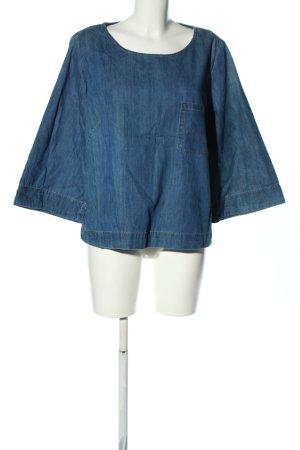Set Blusa denim blu stile casual