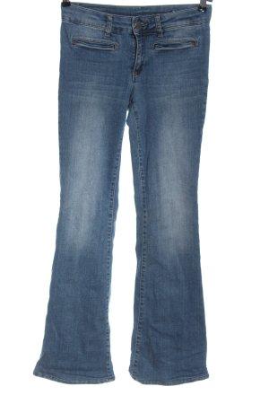 Set Jeans a zampa d'elefante blu stile casual