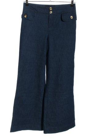 Set Jeansschlaghose blau Casual-Look