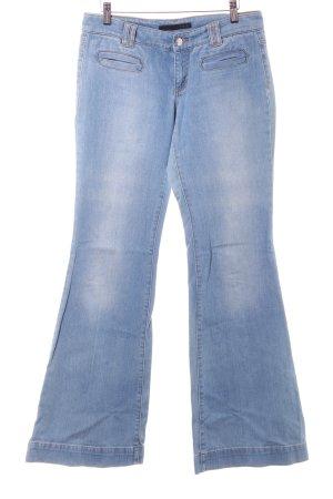 Set Jeansschlaghose hellblau Casual-Look