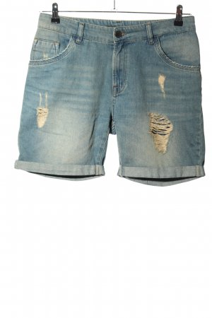Set Denim Shorts blue casual look