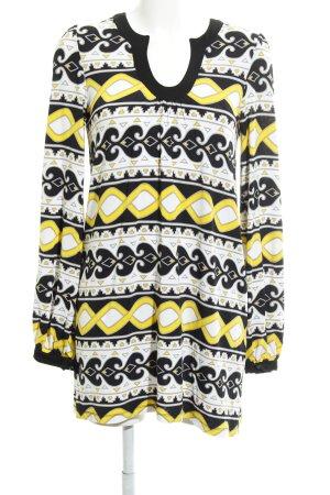 Set Jerseykleid grafisches Muster Casual-Look