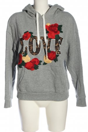 Set Kapuzensweatshirt Blumenmuster Casual-Look