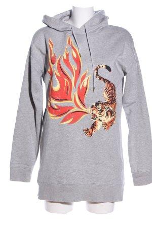 Set Kapuzensweatshirt Animalmuster schlichter Stil