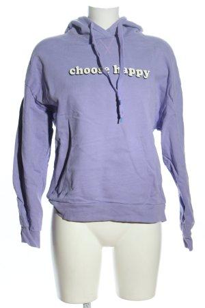 Set Kapuzensweatshirt blau Schriftzug gedruckt Casual-Look
