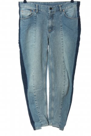 Set Carrot Jeans blue casual look