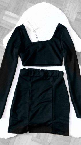 Missguided Jersey twin set zwart