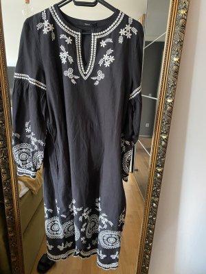 Set Kleid S schwarz weiß