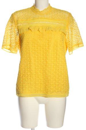 Set Kurzarm-Bluse blassgelb klassischer Stil