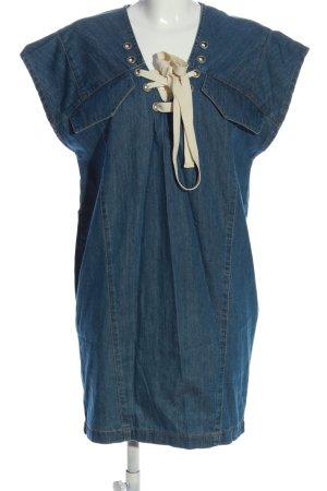 Set Kurzarmkleid blau Casual-Look