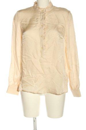 Set Bluzka z długim rękawem kremowy Elegancki