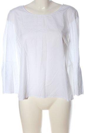 Set Langarm-Bluse weiß klassischer Stil