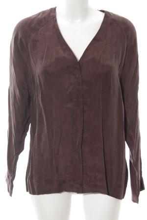 Set Langarm-Bluse braun schlichter Stil