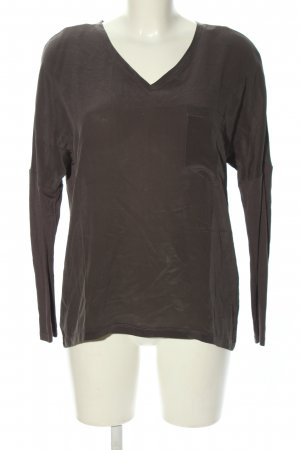 Set Langarm-Bluse bronzefarben Casual-Look
