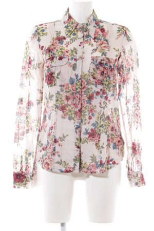 Set Langarm-Bluse Allover-Druck Casual-Look