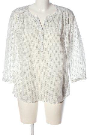 Set Bluzka z długim rękawem w kolorze białej wełny-czarny Wzór w kropki