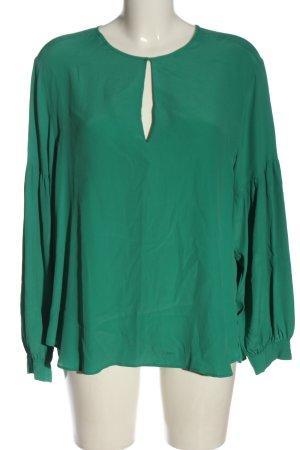 Set Blusa de manga larga verde estilo «business»