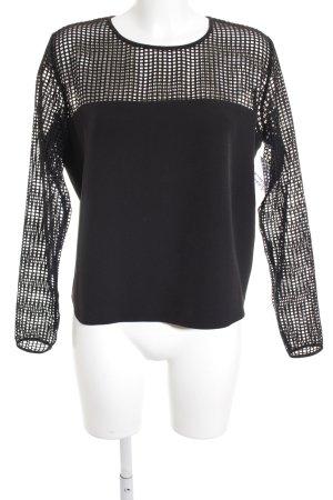Set Langarm-Bluse schwarz extravaganter Stil