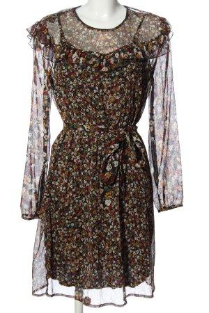 Set Longsleeve Dress flower pattern elegant