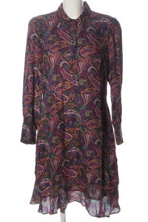 Set Vestido de manga larga estampado con diseño abstracto elegante