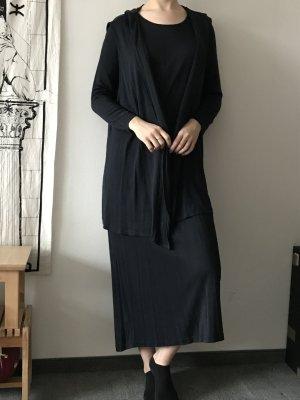 Set langes Kleid mit langer Jacke aus Seide