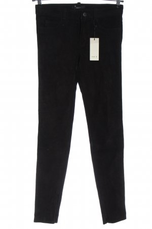 Set Leather Trousers black casual look