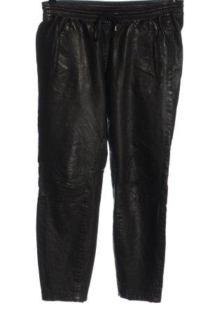 Set Skórzane spodnie czarny W stylu casual
