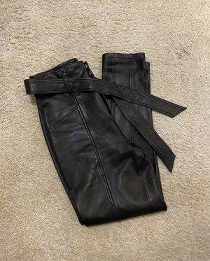 Set Fashion Pantalón de cuero negro