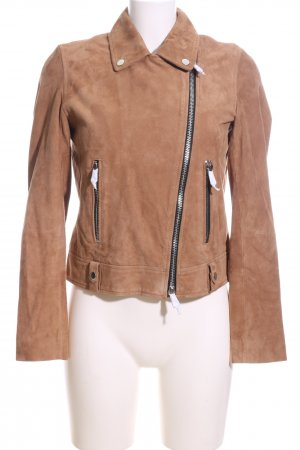 Set Lederjacke braun Casual-Look