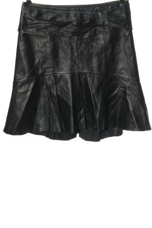 Set Falda de cuero negro elegante