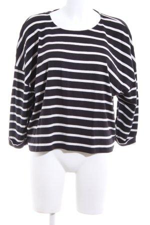 Set Longsleeve schwarz-weiß Streifenmuster Casual-Look