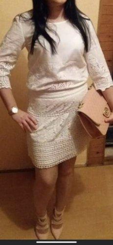 Vila Jupe tricotée blanc