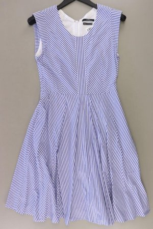 Set Midikleid Größe 38 gestreift Ärmellos blau aus Baumwolle
