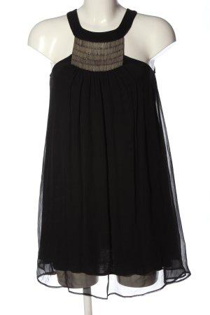 Set Minikleid schwarz extravaganter Stil