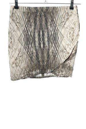 Set Minirock schwarz-wollweiß abstraktes Muster Casual-Look