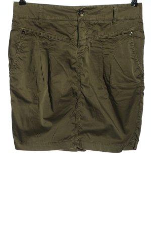 Set Spódnica mini khaki W stylu casual