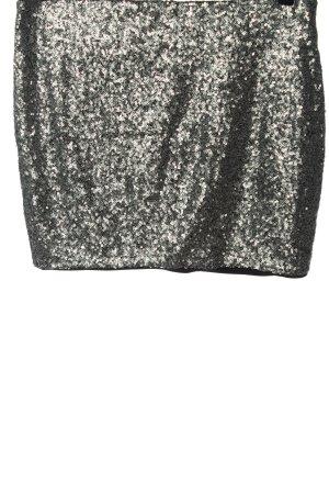 Set Spódnica mini srebrny Elegancki
