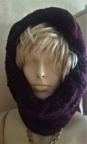 Tchibo / TCM Tube Scarf dark violet wool