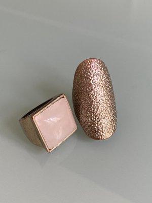 / Złoty pierścionek w kolorze różowego złota-złoto