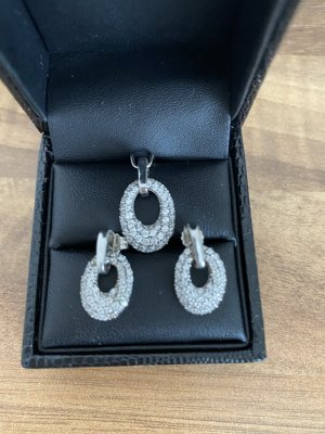 Set Ohrringe Anhänger Silber NEU