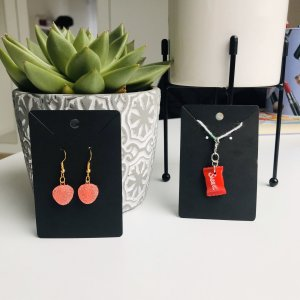 10 Days Silver Earrings red-bright red